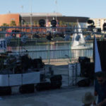 Panoramic  view of band and DJ Rig